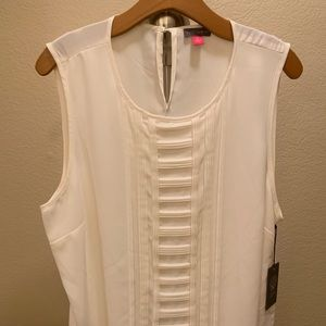 Vince Camuto Tops - Vince Camuto XL silk white blouse